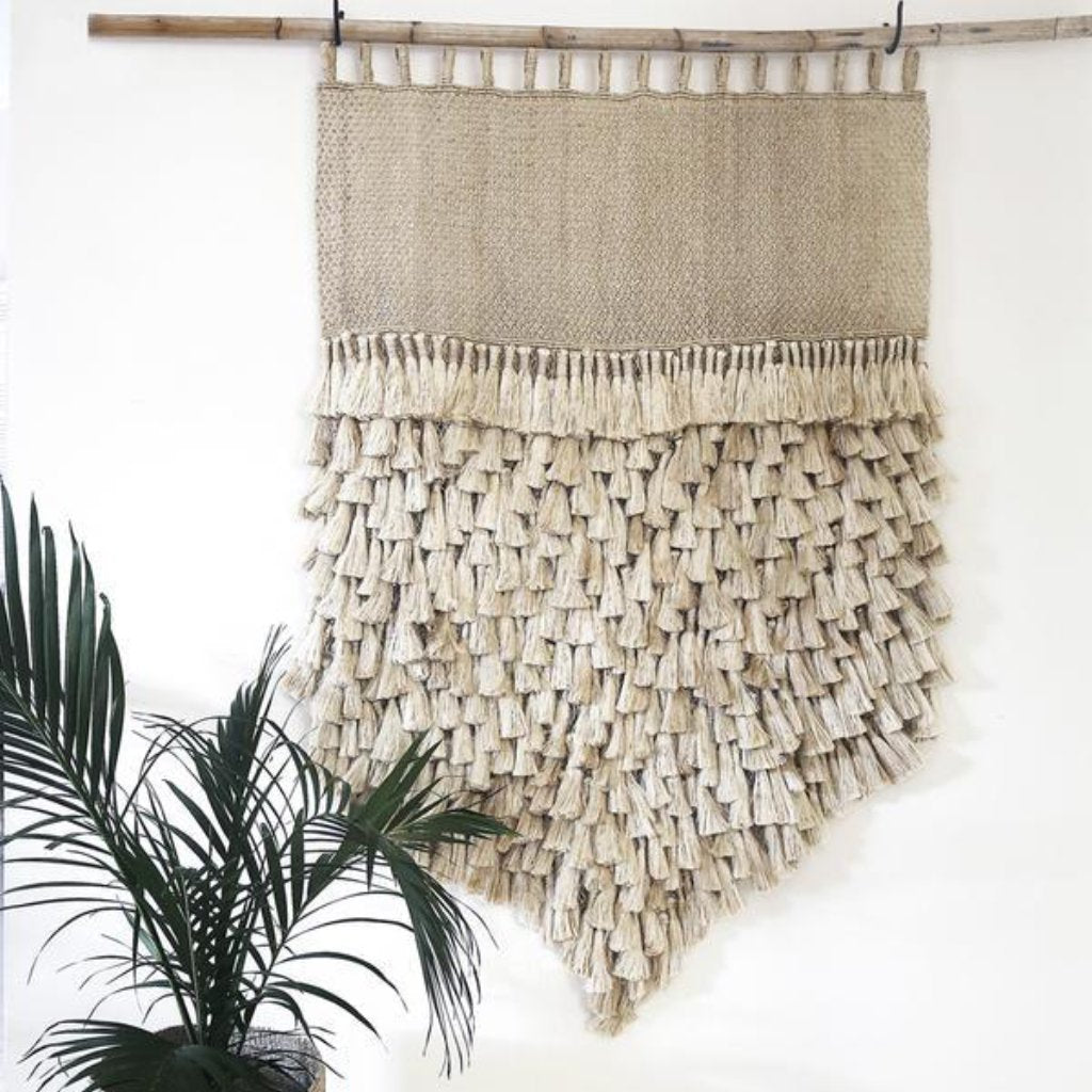 Jumbo Jute Wall Hanging by Dharma Door