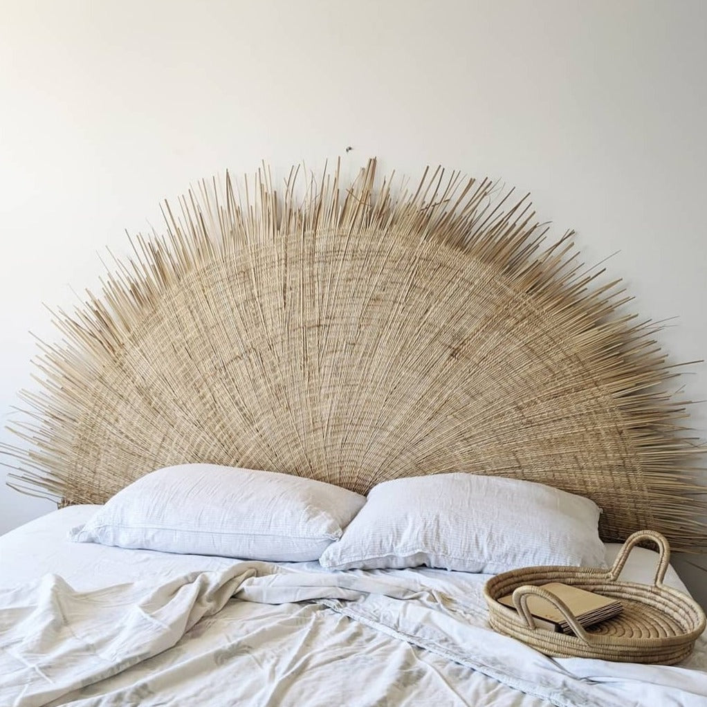 Malawi Palm Sun Bed Head Wall Hanging , One Size
