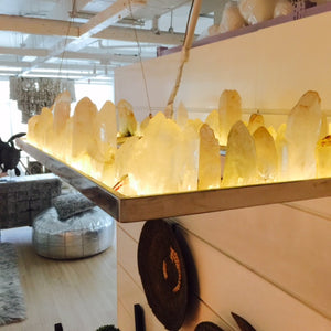 Custom Designed Contemporary Rock Crystal Chandelier Light / ضوء