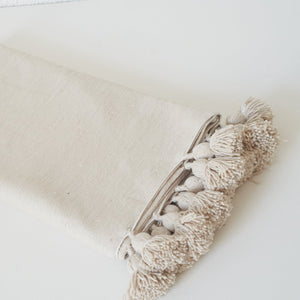 Cinnamon Bed Throw Blanket - Medium, Cream / بطانية