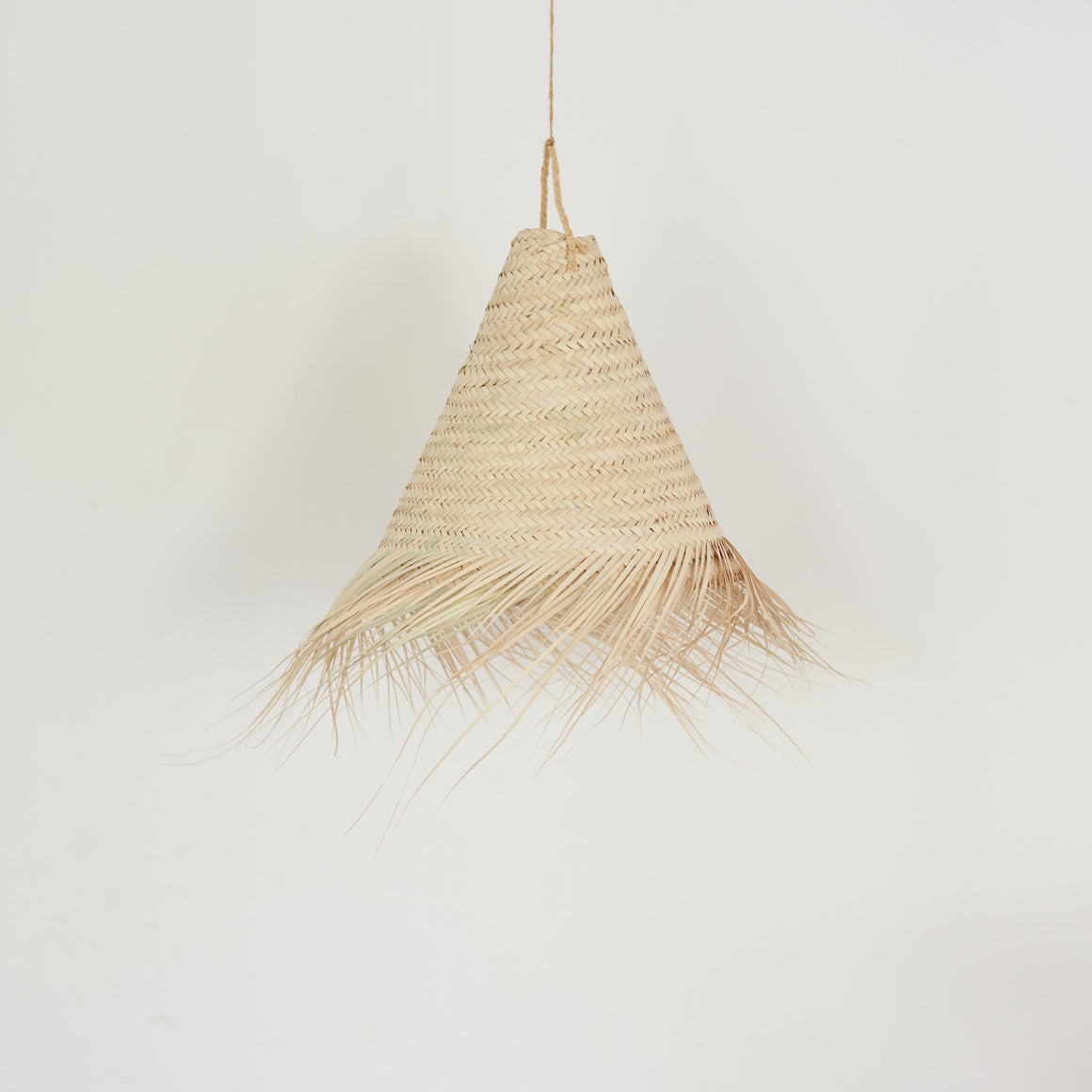Swirl Cone Palm Leaf Lamp Shade