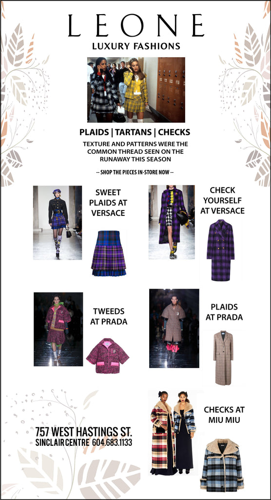 FW18 TREND REPORT | PLAIDS