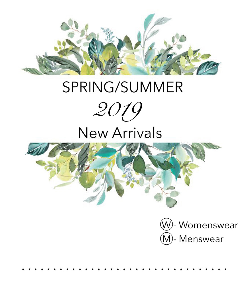 SS2019 NEW ARRIVALS