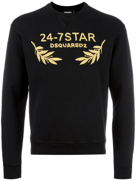 DSquared2 | SS 2018 | 24-7STAR embroidered sweatshirt