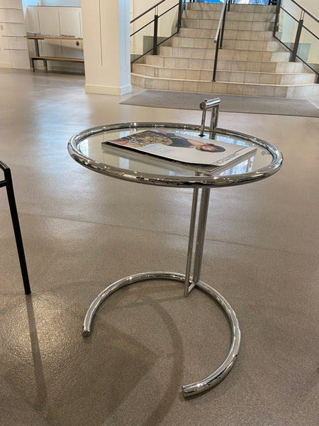 #13 > Round Glass/Chrome Side Table [SOLD OUT]