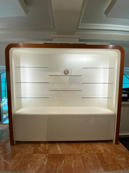 #45 >  Display Case w/ Glass Shelving and Lighting (Large) [SOLD OUT]