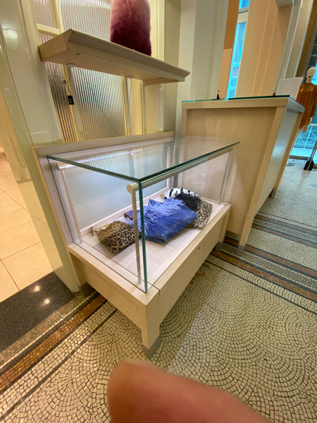 #30 > Small Glass Display Case with Internal Lighting