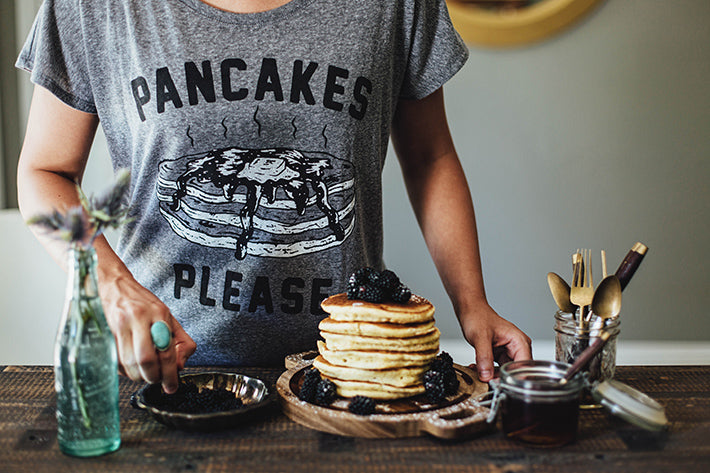 Buttermilk Blackberry Pancakes Please Tee
