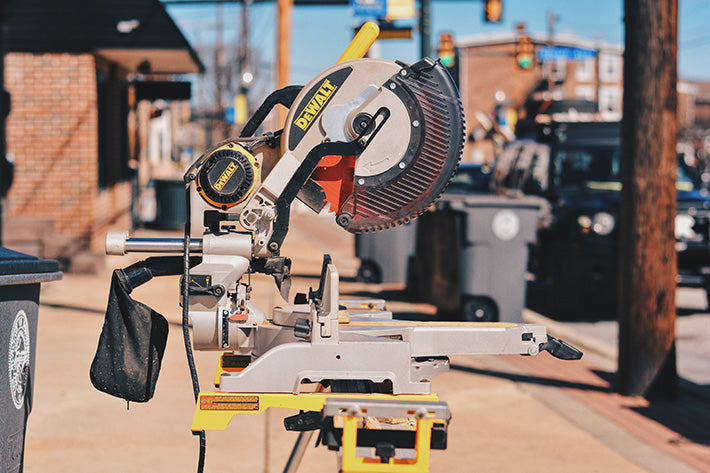 Dewalt Tools Mitre Saw in Downingtown, PA and used by Philadelphia Woodcraft Co