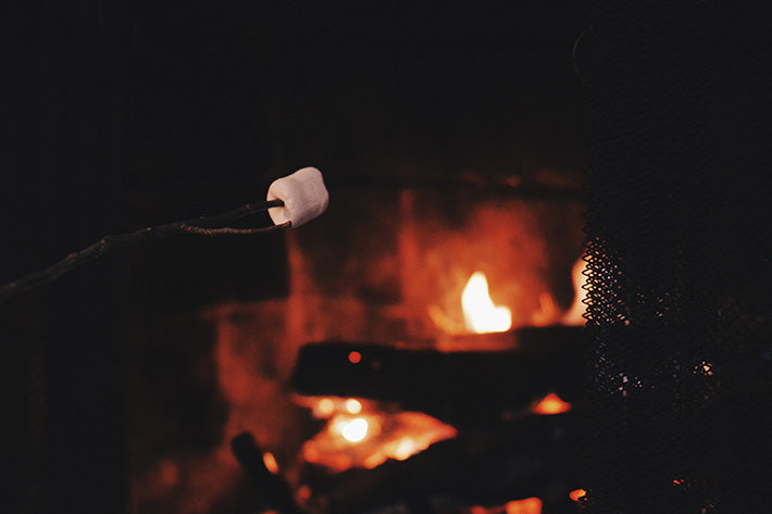 Fireplace Smores Fire and Marshmallow