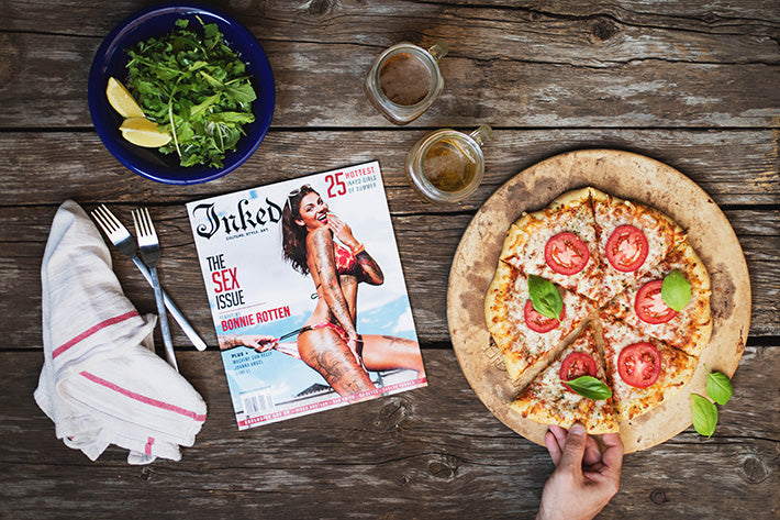 Inked Magazine Bonnie Rotten Summer Issue Pizza Bikini Pyknic