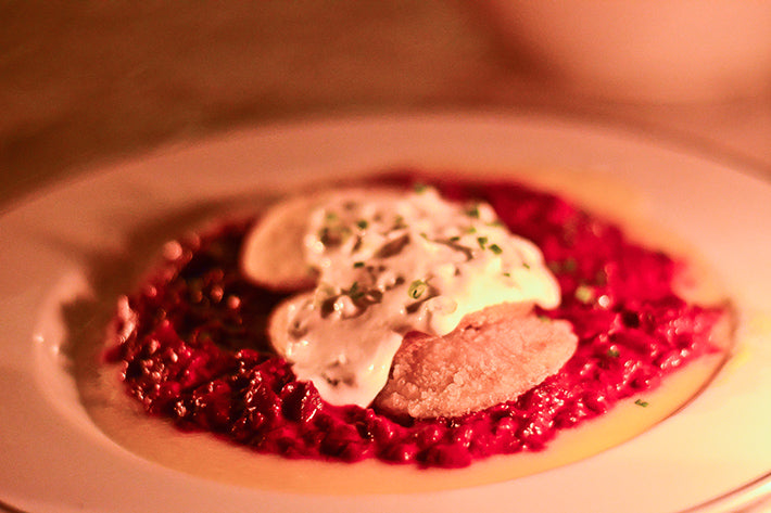 Kindred San Diego Vegan Beet Risotto