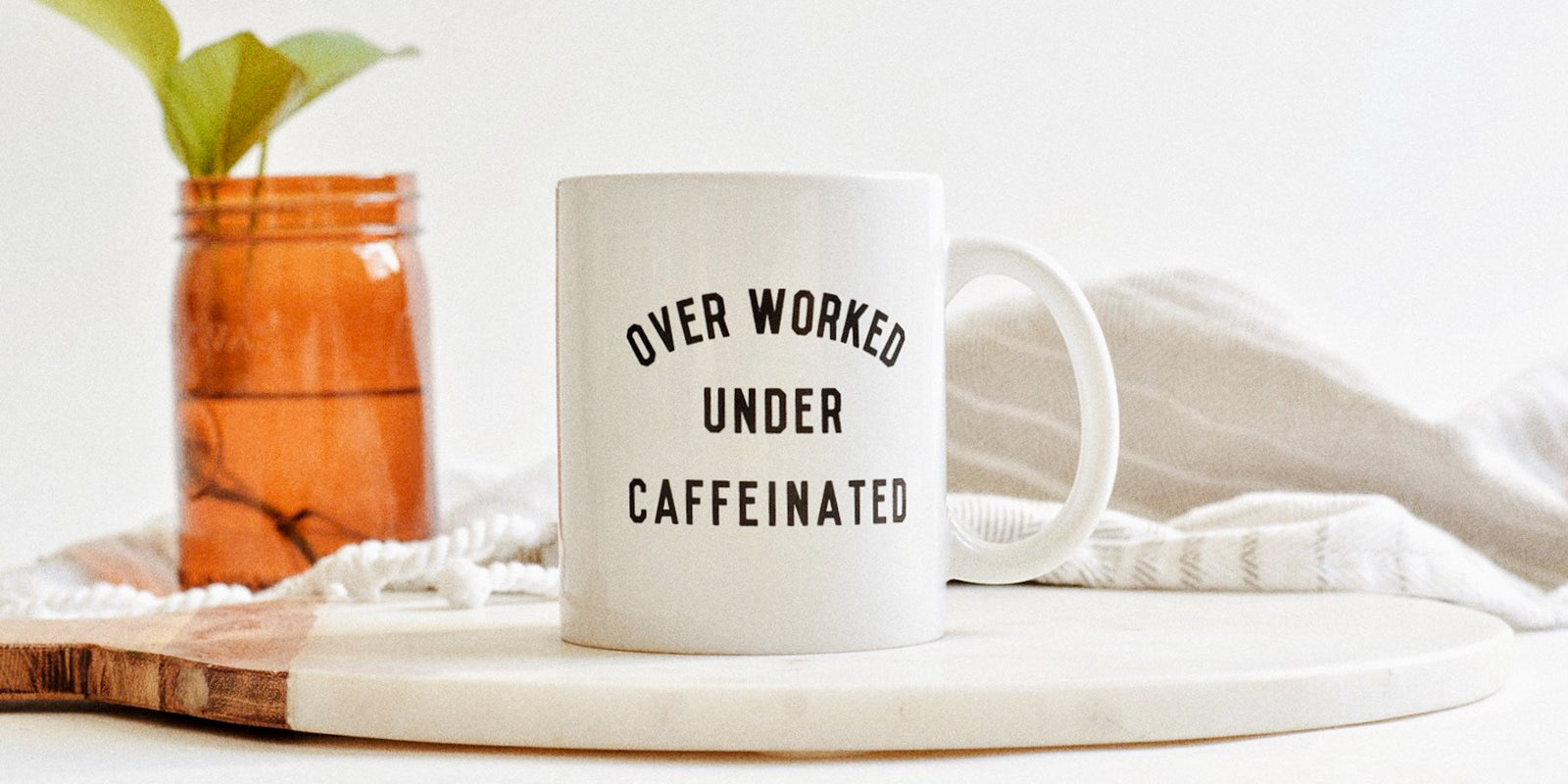 Over Worked Under Caffeinated Always Tired Ceramic Mug