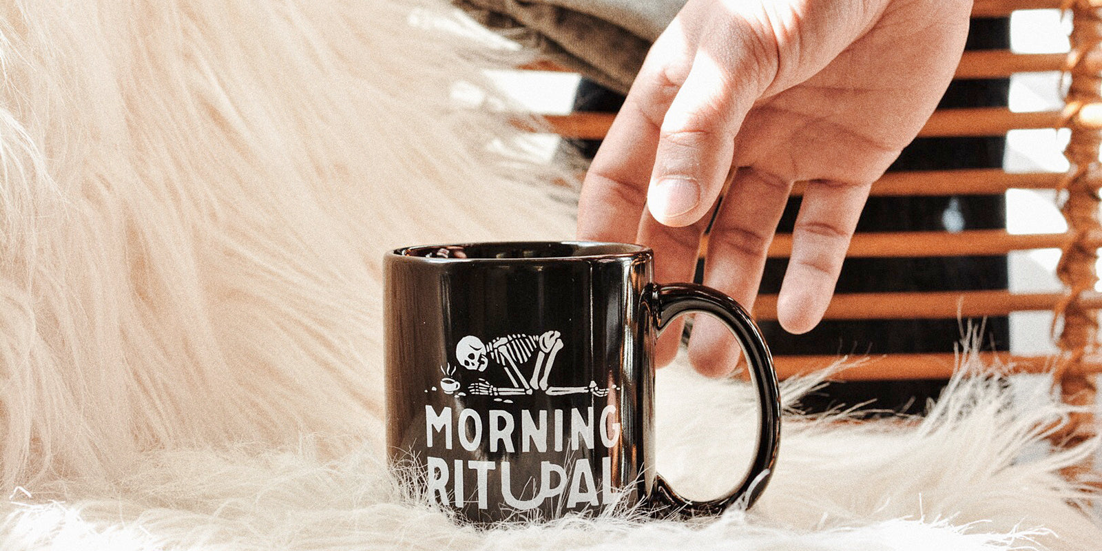 Morning Ritual Skeleton Bones Need Coffee Ceramic Mug