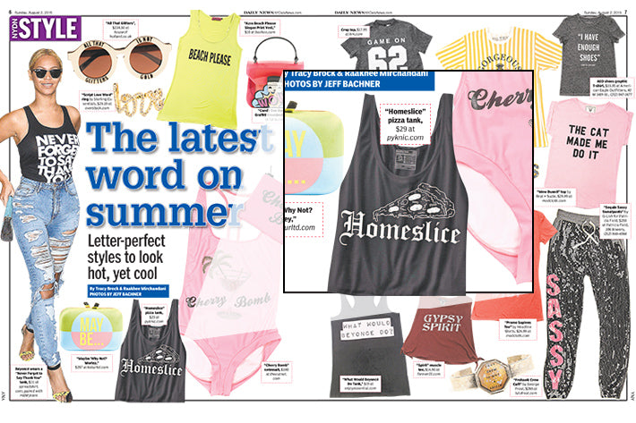 NYDN STYLE NY Daily News Style The Word on Summer Pyknic Homeslice Tank