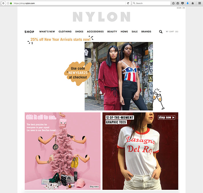 Pyknic's Lasagna Del Rey Shirt Featured on NYLON.com