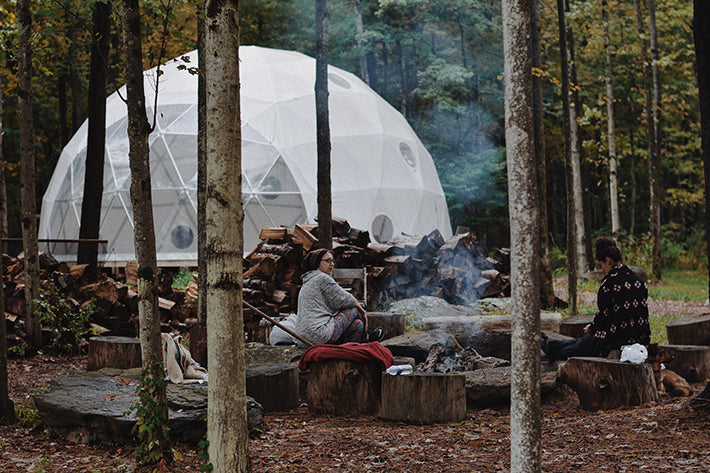 Outlier Inn Woodridge, NY Catksills Camp Fire Geodesic Dome Escape Brooklyn