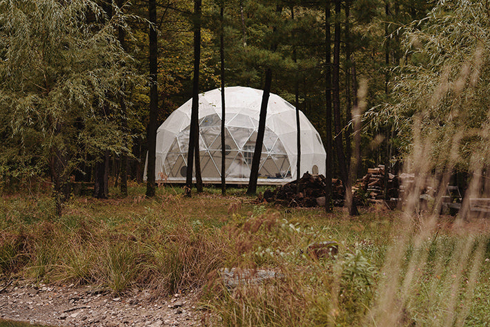 the outlier inn geodesic dome - glamping airbnb catskills upstate ny
