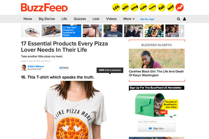 I Like Pizza More Than I Like People Tee BuzzFeed Pyknic Pizza Tee