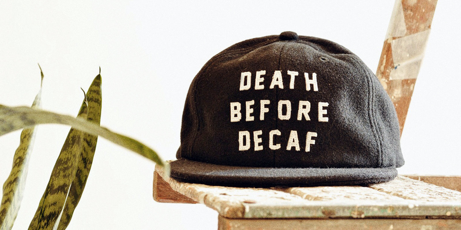 Death Before Decaf Black Coffee Wool Six Panel Strapback Cap Best Food Meme Hat