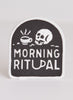 Morning Ritual Coffee Embroidered Iron-on Patch Food Meme Gift