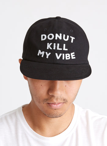 Donut Kill My Vibe Donuts Foodie Reaper Vintage Inspired Doughtnuts Black Hat