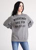 Weekends are for Waffles Unisex Adult Crewneck Breakfast Syrup Sweatshirt