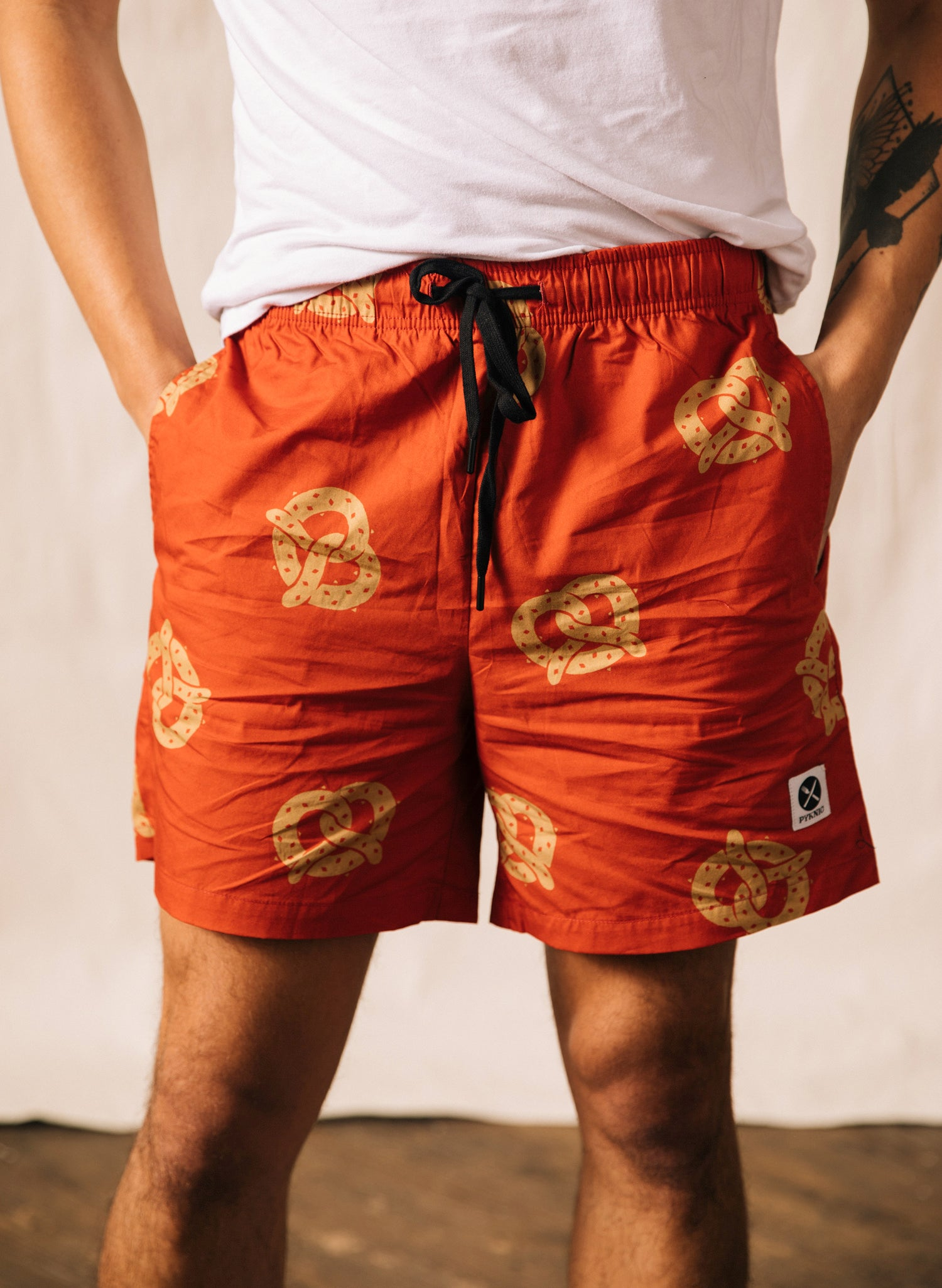 Pretzels Shorts Foodies Food Philly Super Soft Pretzel Walk Shorts Baggies