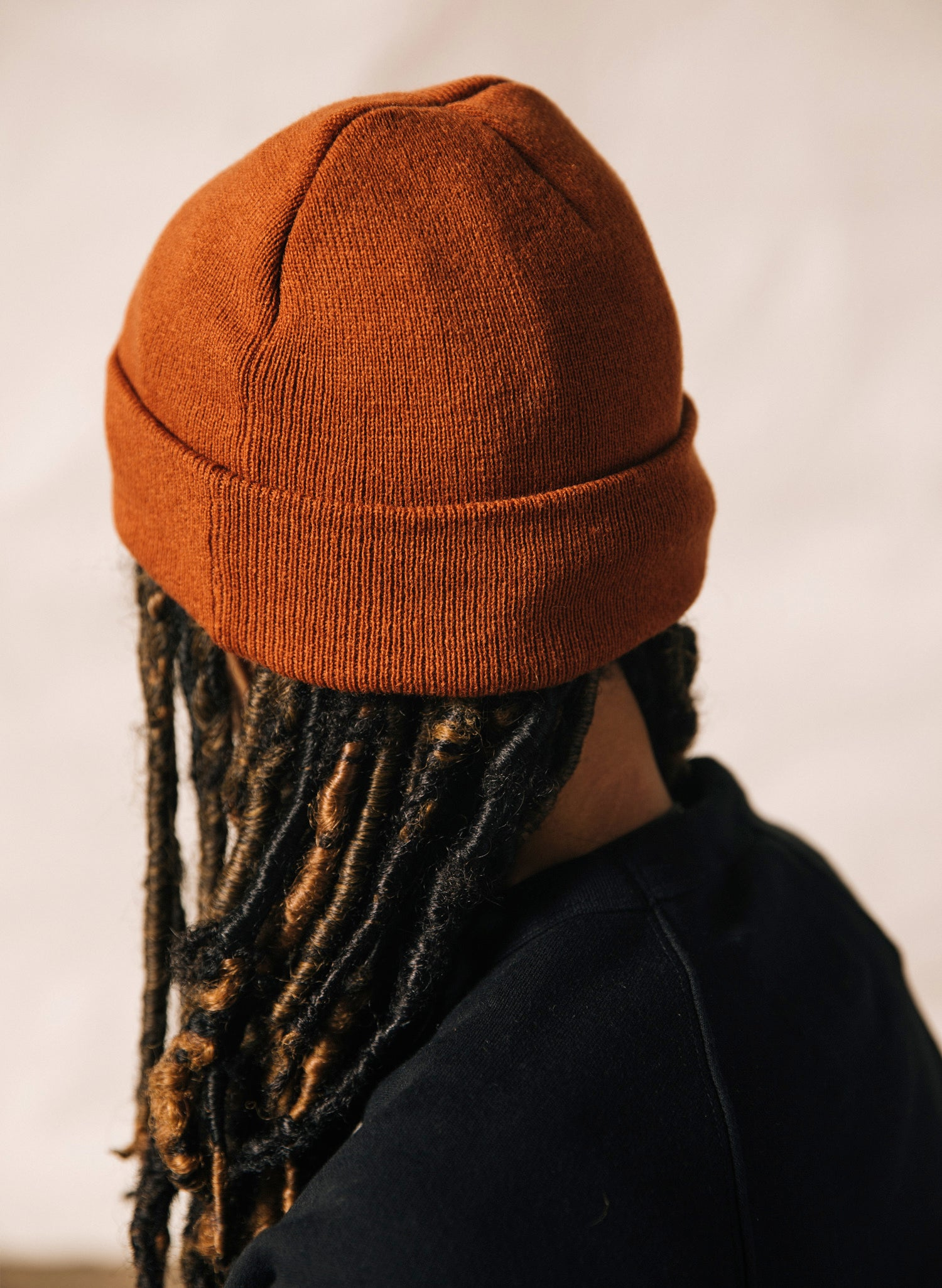 Overworked Under Caffeinated Coffee Knit Beanie Hat Rust