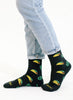 Taco Cactus Texas Pattern Crew Socks for Unisex Adults - Perfect Gift for Taco Lovers and Taco Tuesday