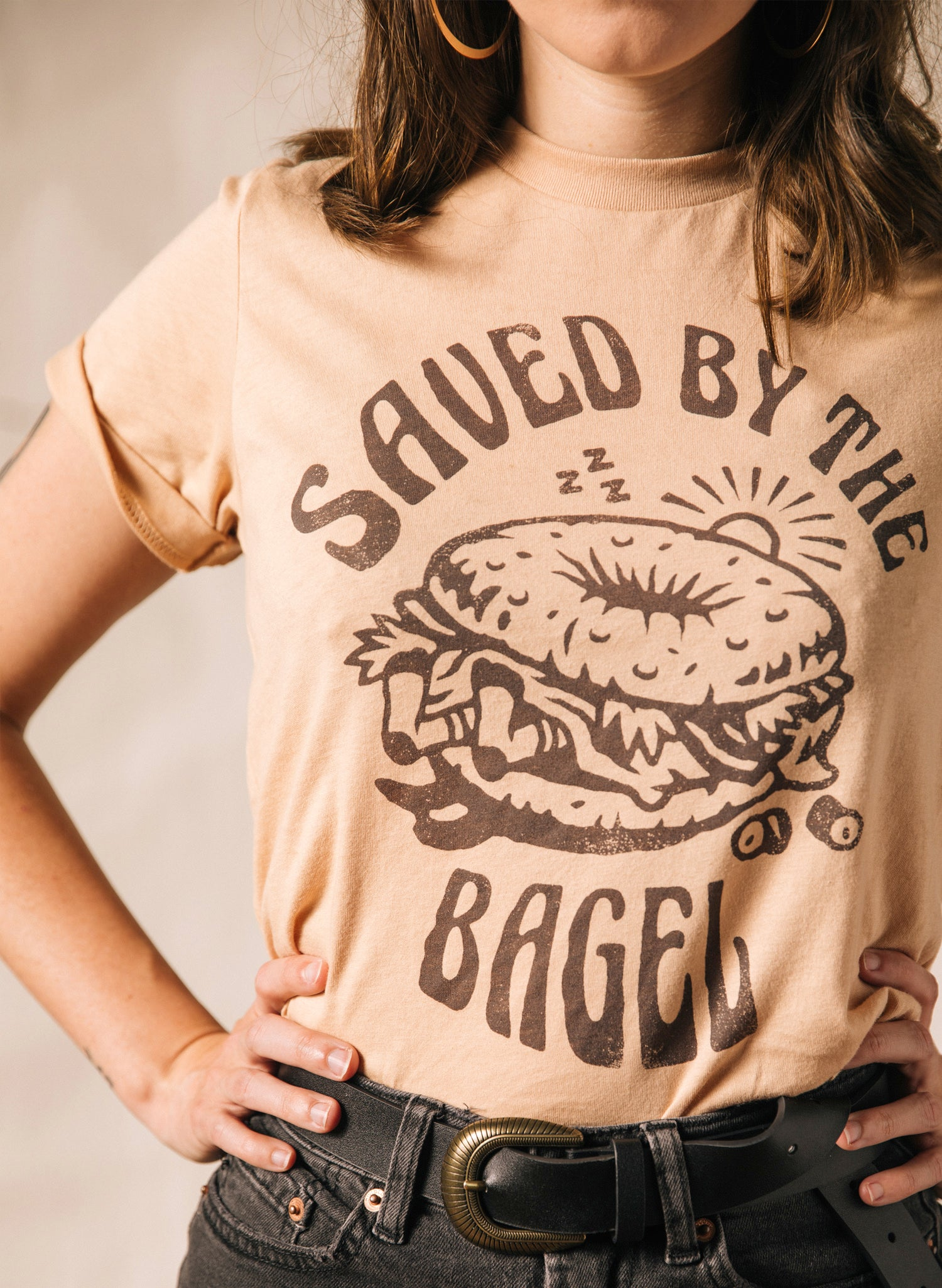 Pyknic Saved By the Bagel NYC Deli Bagels and Lox Hangover Hungover Foodie Food Tshirt