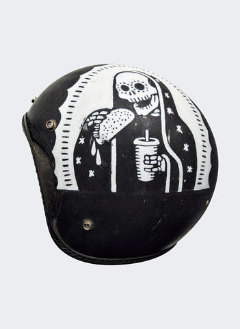 Vintage Count Blessings Not Calories Sugar Skull Tacos Motorcycle Helmet