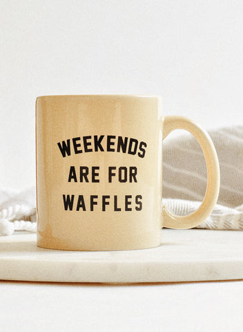 Weekends are for Waffles Breakfast Syrup Brunch Sunday Funday Coffee Mug
