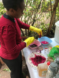 Experimenting with beet juice as a colorant (hint: it didn't work)