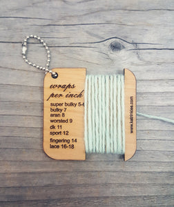 Katrinkles Custom Mini Tool Keychain - Stash-A Place For Yarn