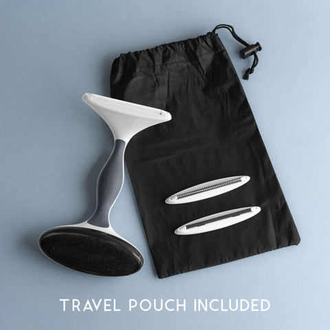 TRAVEL POUCH INCLUDED
