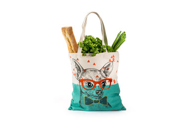 Dapper Dog Canvas Tote_groceries