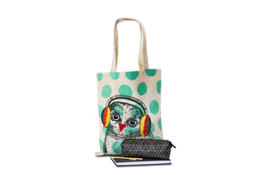 Rockin Owl Canvas Tote_school