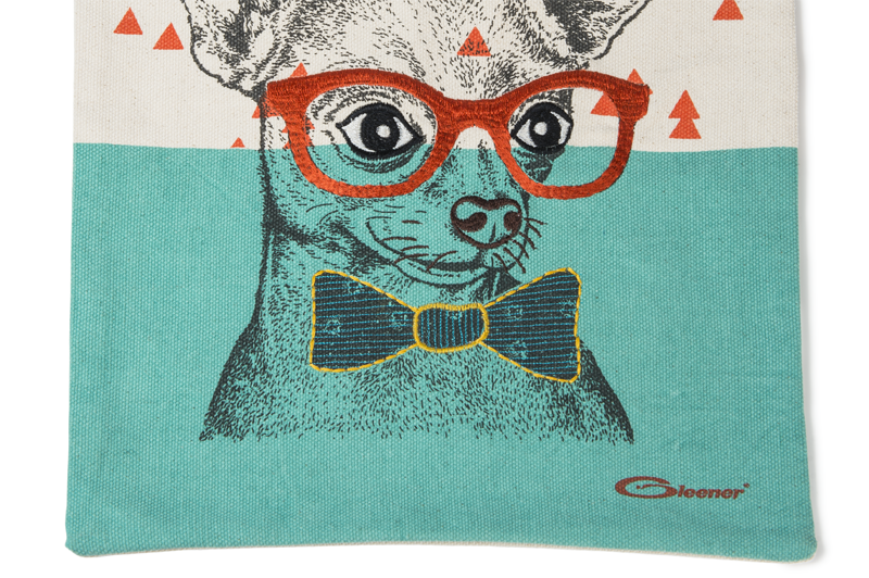 Dapper Dog Canvas Tote