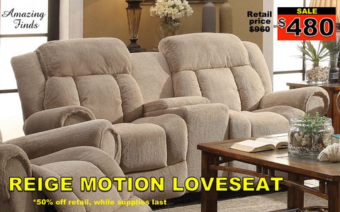 Reige reclining loveseat NEW 50% off