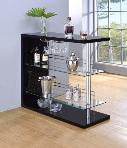 Bar unit gloss black by Coaster CO-100165