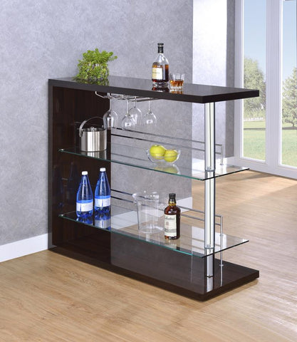 Bar unit gloss cappuccino by Coaster CO-100166