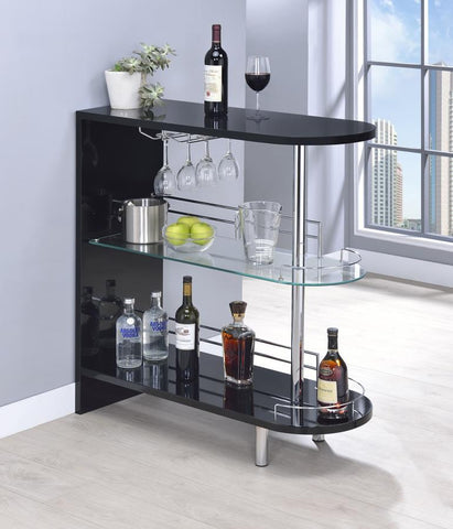 Bar unit glossy black by Coaster CO-101063