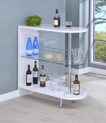 Bar unit glossy white by Coaster CO-101064