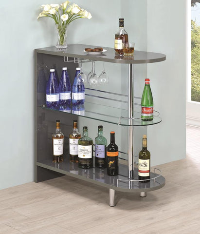Bar unit glossy grey by Coaster CO-101073