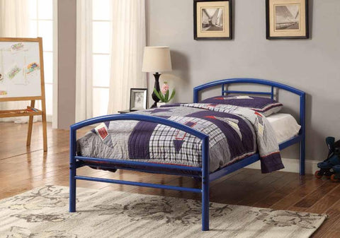 Bailey metal bed twin white CO-400153T