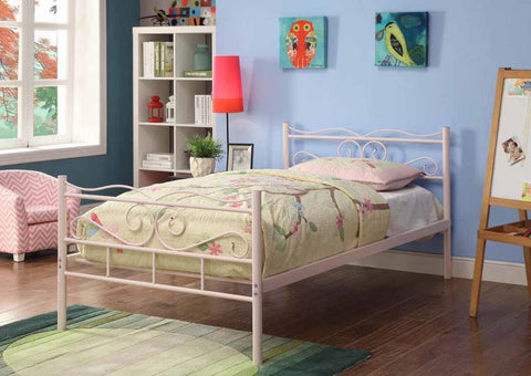 Bailey metal bed twin pink CO-400030T