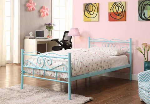 Bailey metal bed twin mint green CO-400152T