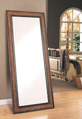 Crackle finish antique brown mirror CO-8575