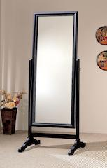 Cheval mirror rubbed black CO-900168